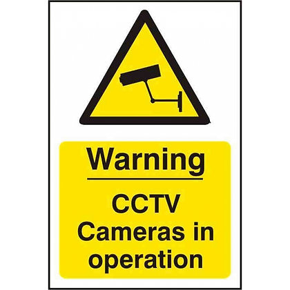 CCTV Cameras In Operation Sign