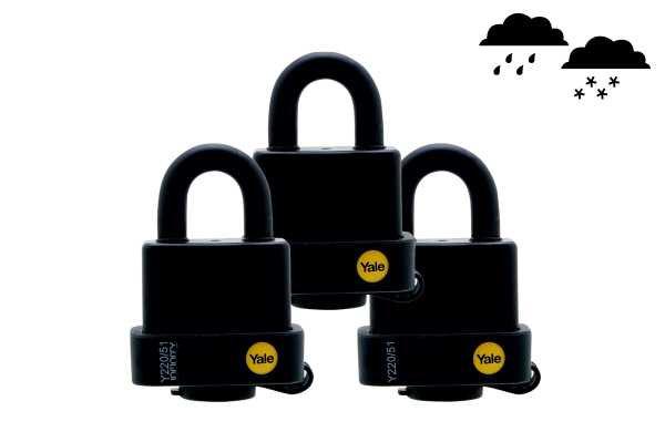 Yale Weatherproof Padlocks 3 Pack
