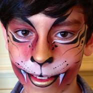 Tiger facepainting