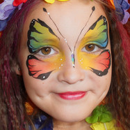 Butterfly facepainting