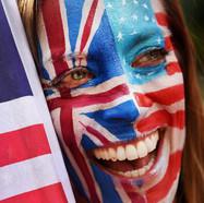 Facepainted flag