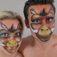 Animal theme facepaint