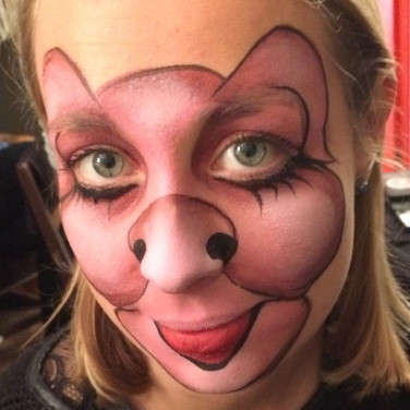 Pig party facepaint