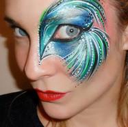 Eye design face paint
