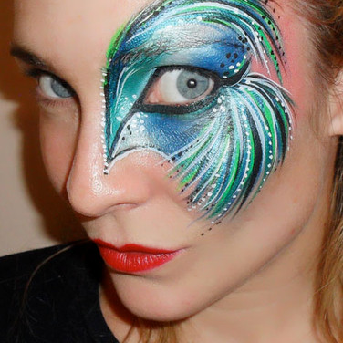 Eye design face paint