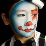 Boys party facepainting