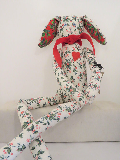 'Holly' Handcrafted Christmas Hare