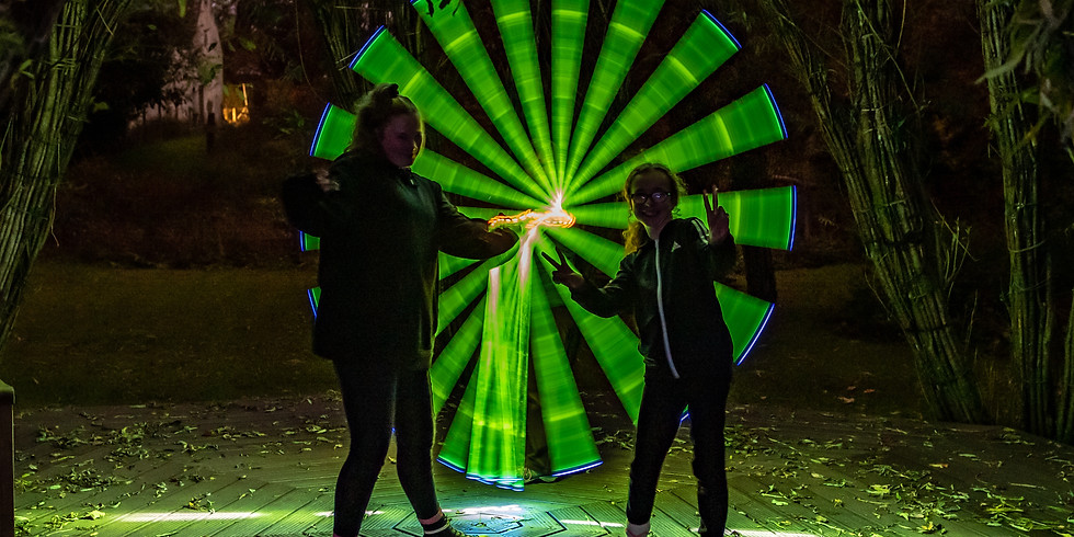 Light Painting at Dunollie Makes Christmas