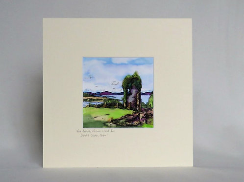 View From Dunollie Castle - Mounted Print