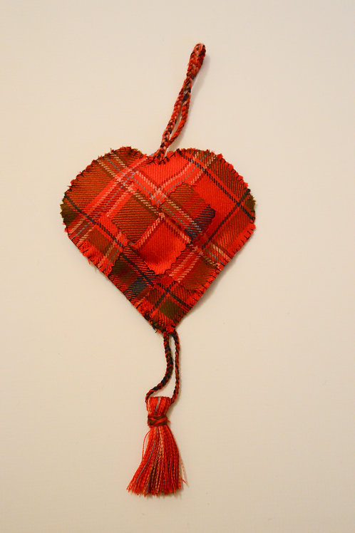 Heritage MacDougall Woven Heart Hanging Decoration