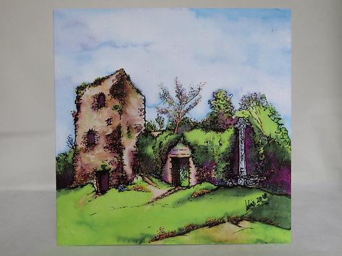 Dunollie Castle & Memorial Cross - Notecard