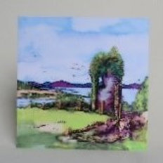 View from Dunollie Castle - Notecard