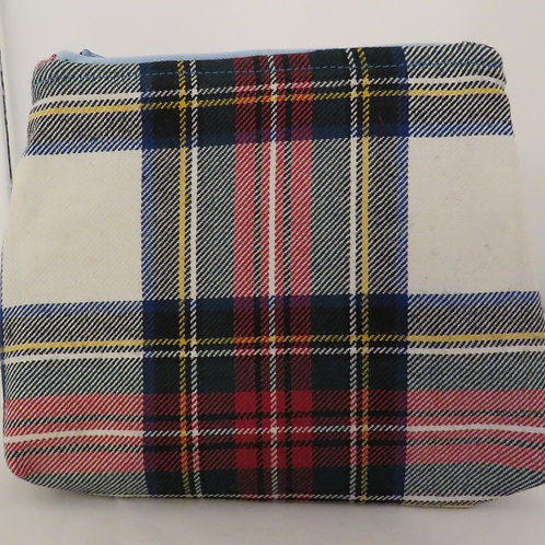 Stewart Dress Tartan Handmade Zip Bag