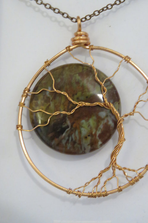 "Agave ""Tree & Moon"" Copper Pendant"