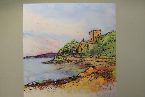 Dunollie Castle - Postcard