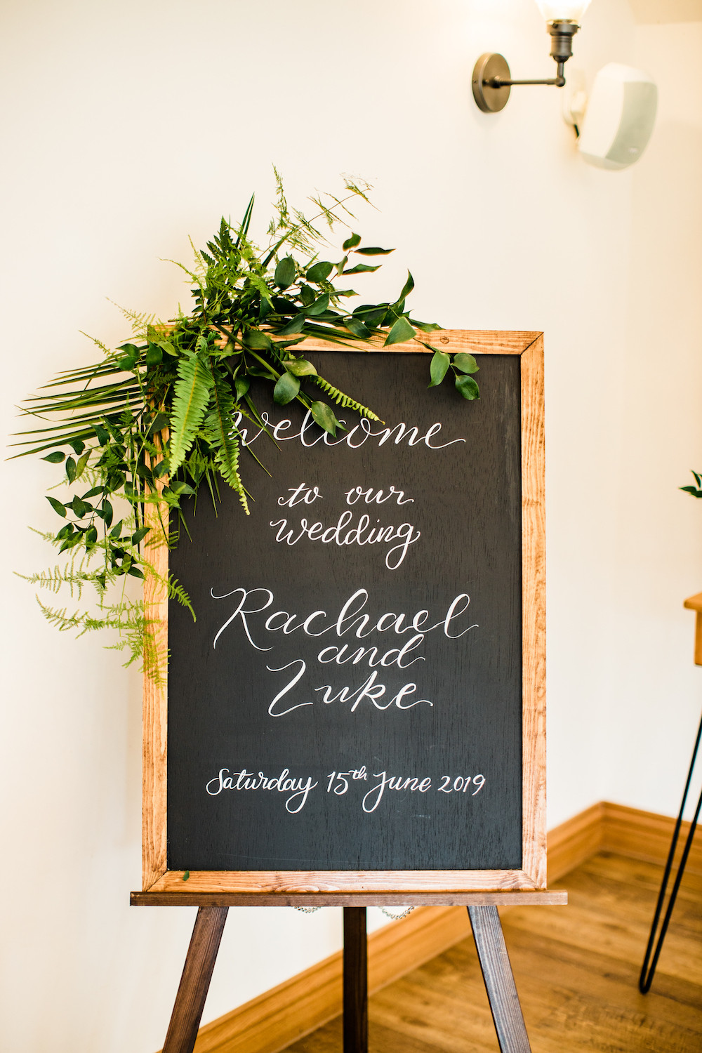 Wedding Welcome Signage Hand Lettered and Personalised