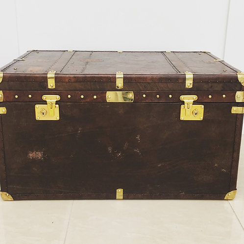 Handmade Vintage Leather Trunk