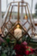 Winter Wedding Lantern Terrarium Centrepiece at Downham Hall, Essex