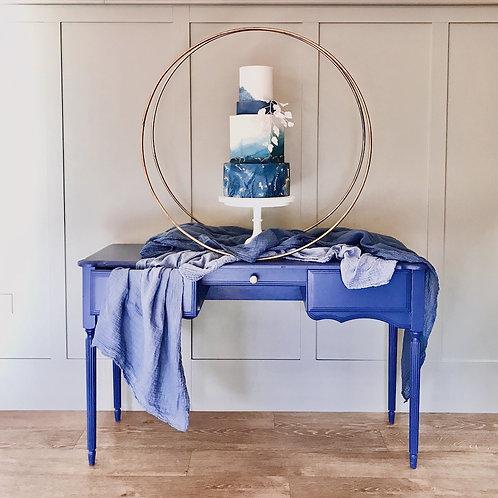 Something Blue Wedding Cake Dresser Table