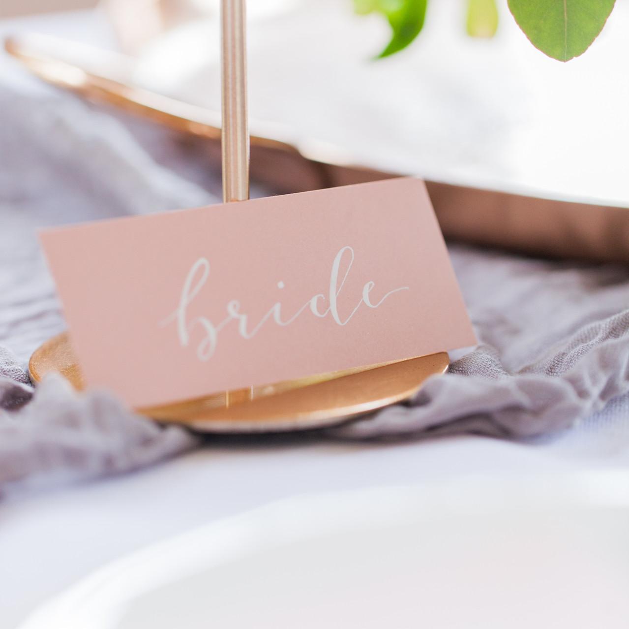Copper Wedding Table Settings