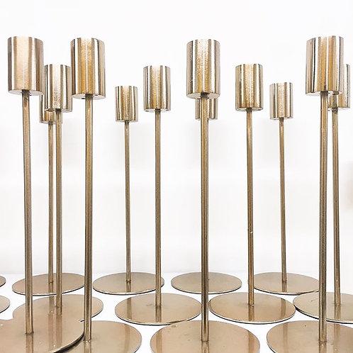 Modern Gold Candlestick Hire
