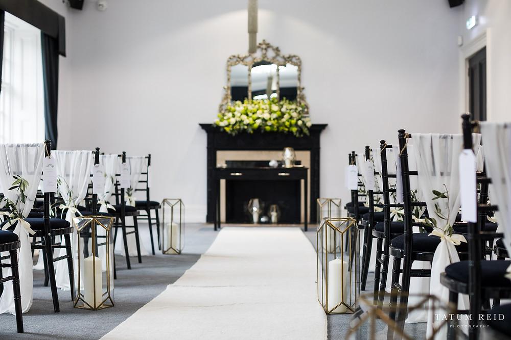 Chic Monochrome Wedding at Swynford Manor
