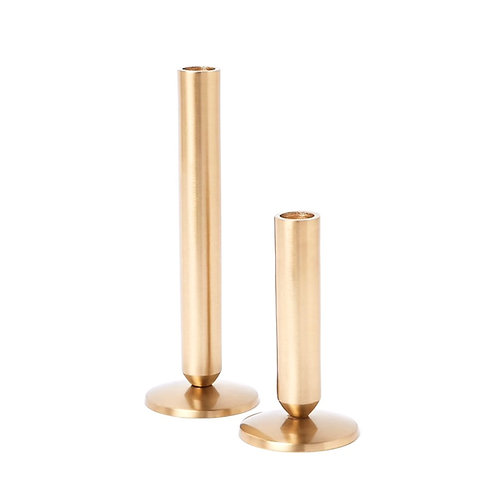 Pair of Cylinder Candle Holders
