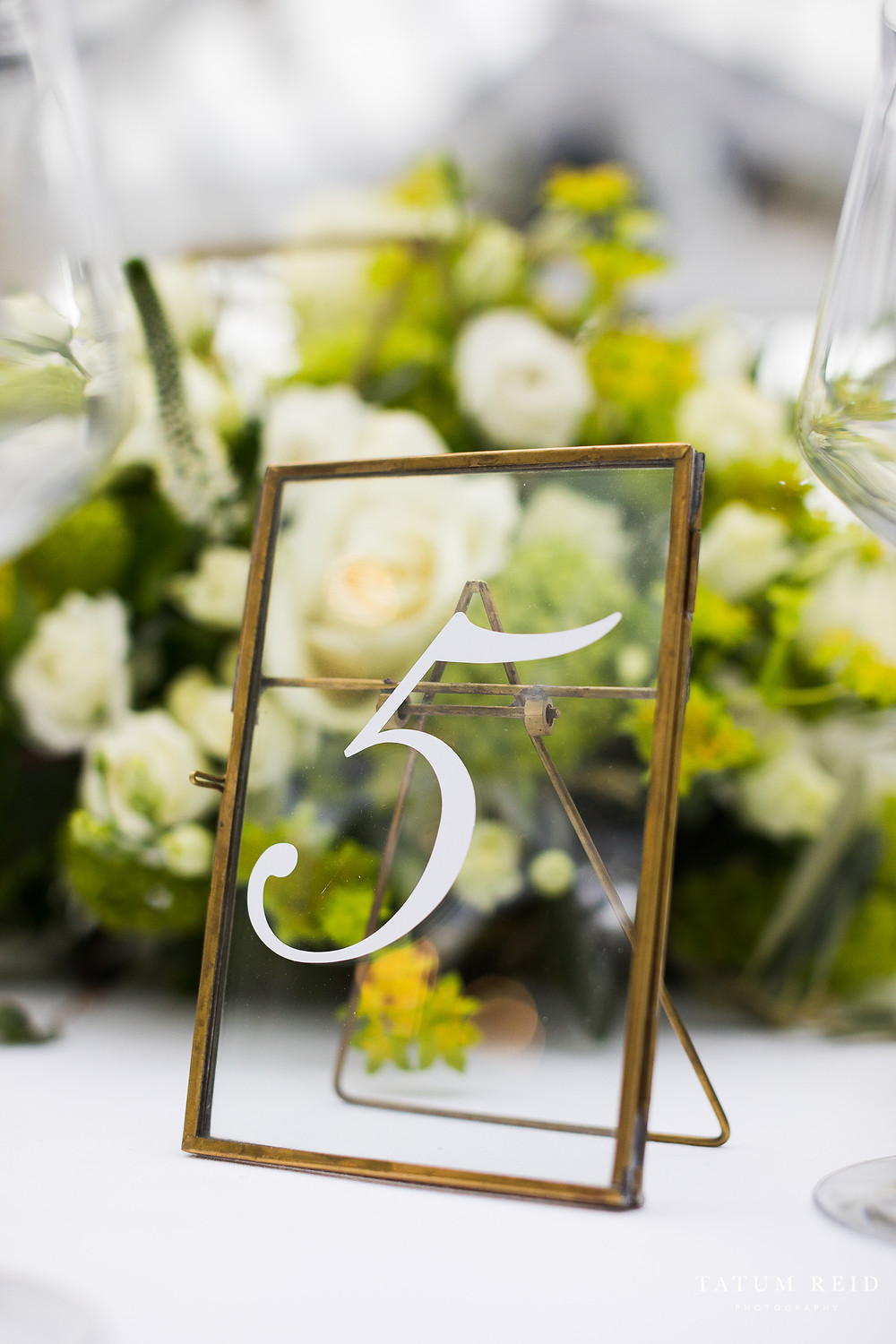 Brass Framed Table Numbers For Hire