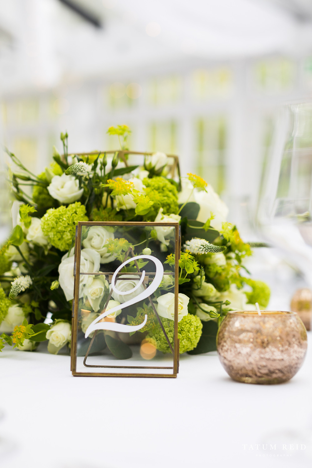 Framed Table Number Hire For Weddings