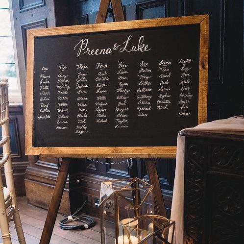 Wedding Chalkboard and Easel Hire