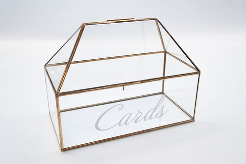 Modern Glass Wedding Post Box / Wedding Card Display Case