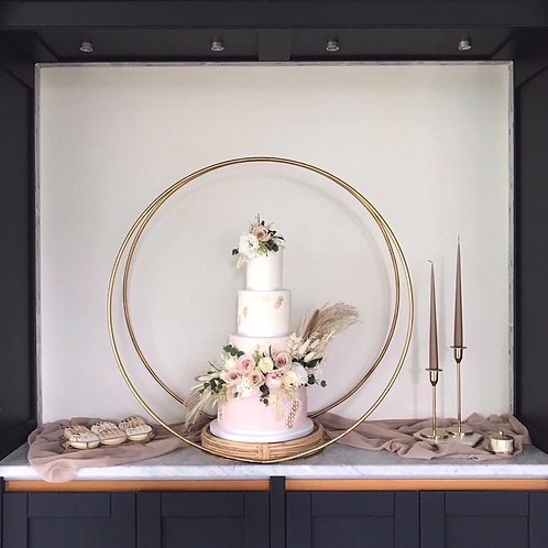 Cake Hoop and Rattan Cake Stand