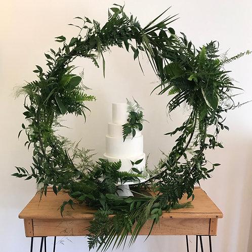 Botanical Cake Hoop & Hairpin Desk