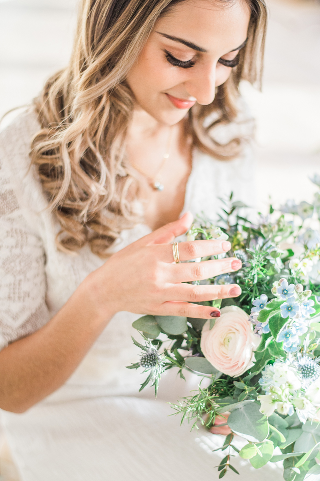 Pretty spring bridal bouquet by Stock Fl
