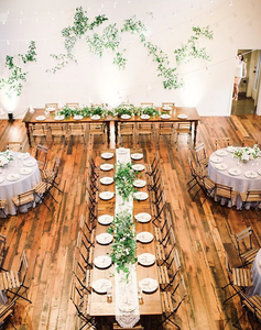 Rustic luxe and romantic table set up.