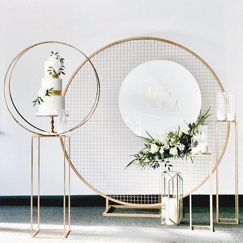 Circular Mesh Backdrop and Cake Hoop