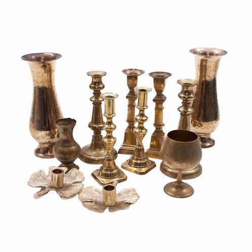 Preloved Brass Candlesticks