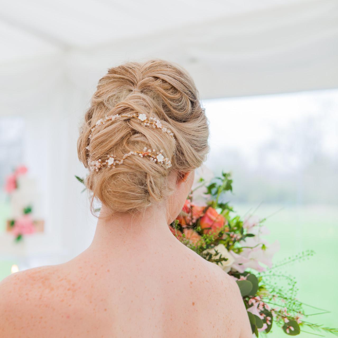 Boho Chic Up Do Wedding Hair