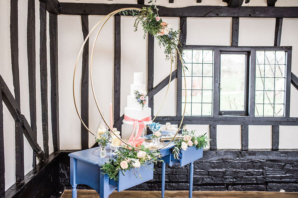 Wedding Cake Hoop Stand Display Hire and Wedding Cake Styling