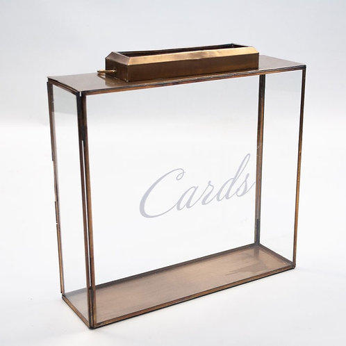 Glass and Brass Drop Box