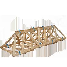 A DIY truss bridge science project made from craft sticks.