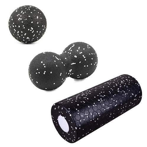High Density Foam Roller and Fitness Massage Ball Set for Muscle Release