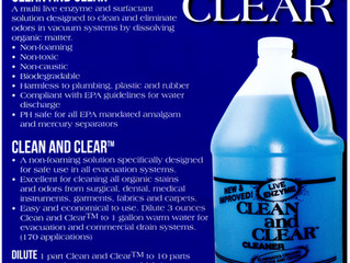 Clean and Clear is PH safe for all EPA mandated Amalgam and Mercury Separators!