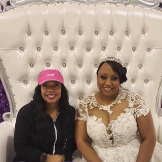 White & Silver Throne Chair w_ Purple Fl