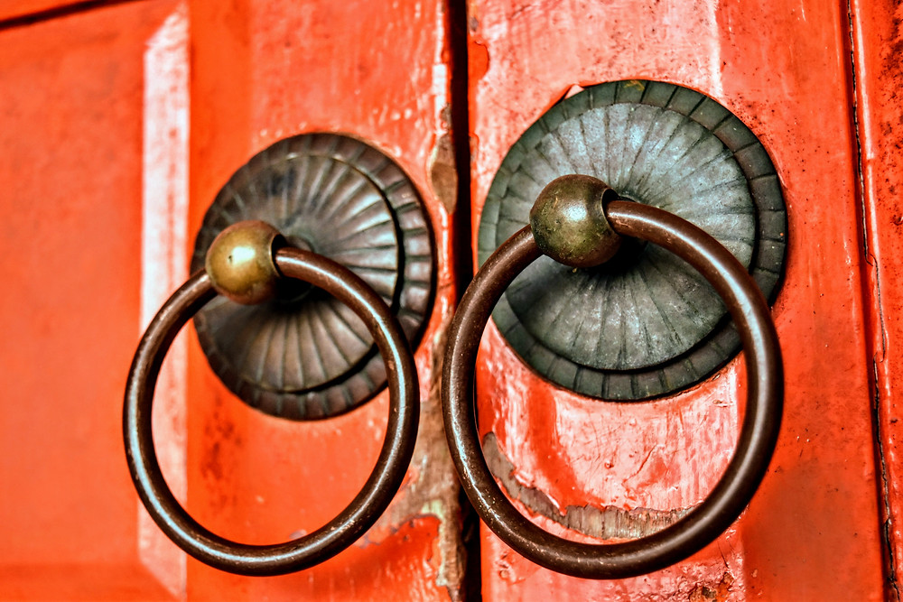 colorful door knockers