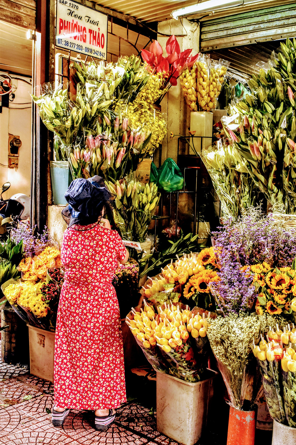 Local buying flowers