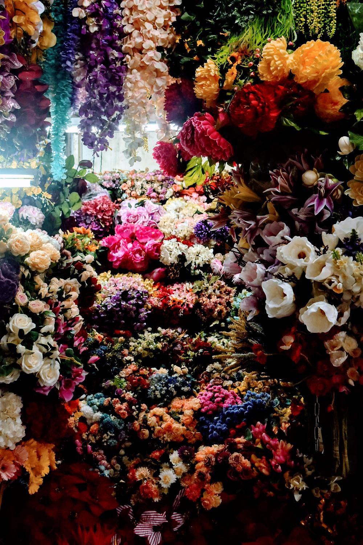 Flower Stall at Vietnamese market