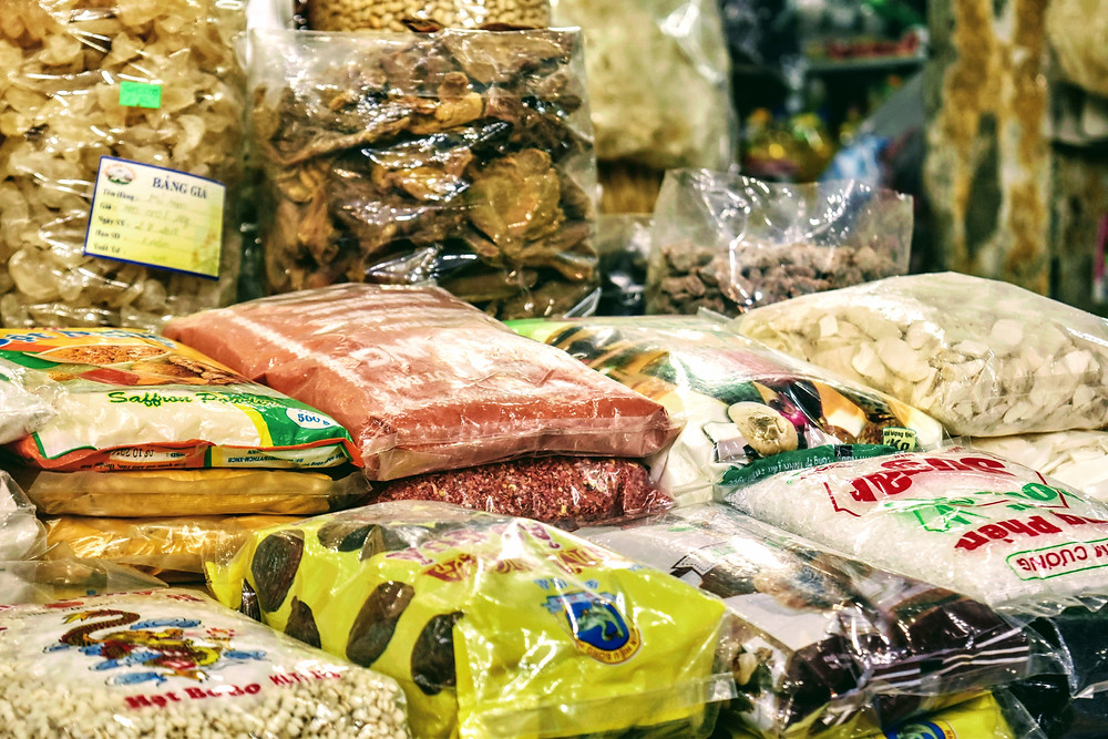 rice and other grains at Ben Thanh Market