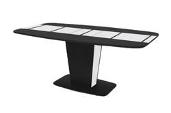 Стол «Домино» раскладной (Черно-белый)