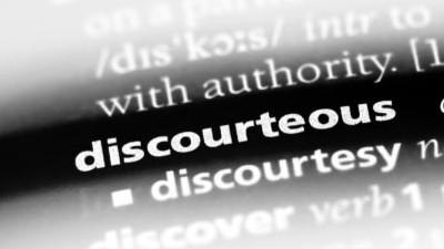 Notice of Adverse Action: Discourteous Treatment